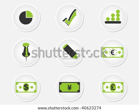(raster image of vector) icons