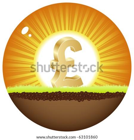 (raster image of vector) lira view in sunshine - stock photo