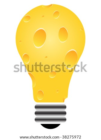 (raster image of vector) piece of cheese - stock photo
