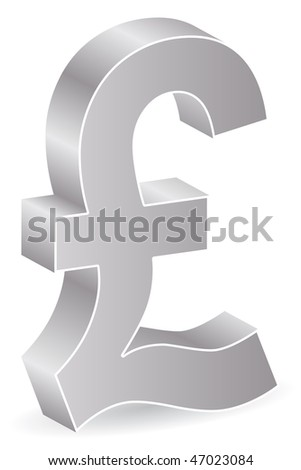 (raster image of vector) silver lira icon
