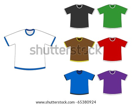 (raster image of vector) t-shirts