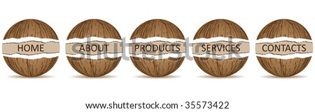 (raster image of vector) website banner template - stock photo