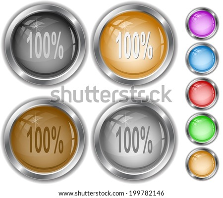 100%. Raster internet buttons.  - stock photo