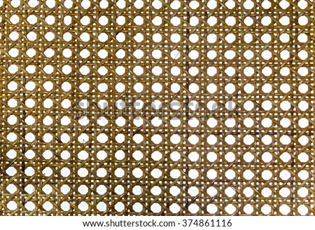 rattan basketry pattern - stock photo