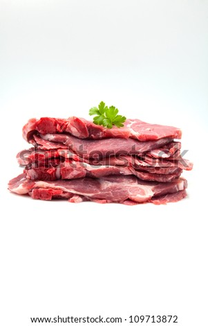 raw meat ready to cook