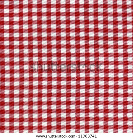 red and white fabric  background - stock photo