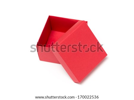 red box isolated on white background