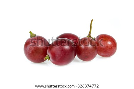 red grapes  isolated on a white background