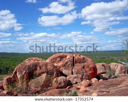 Red stones - stock photo