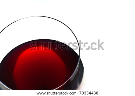 ,red wine in glass , - stock photo