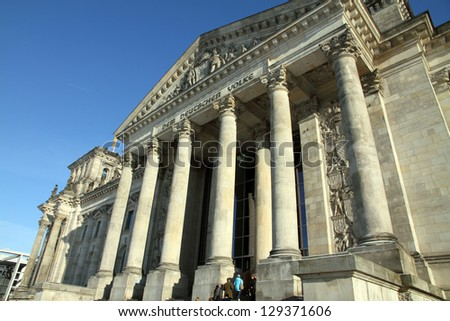 Reichstag,Parliament building, Berlin , Germany