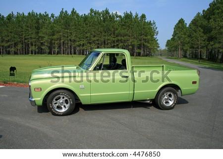 1970 restored chevrolet truck - stock photo