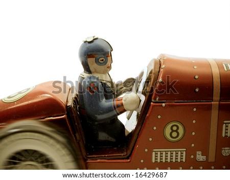 retro toy car - stock photo