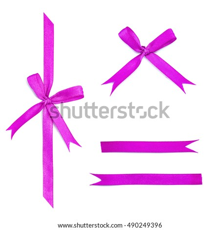 ribbon bow isolated on white background