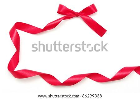 ribbon on white - stock photo