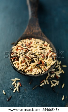 rice in bowl, close-up - stock photo