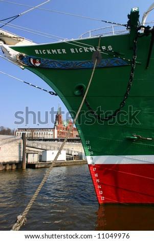 """""""Rickmer Rickmers"""" in Hamburg - stock photo"""