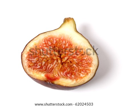 ripe fig isolated on white