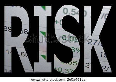 """""""RISK"""" Clipping path - stock photo"""