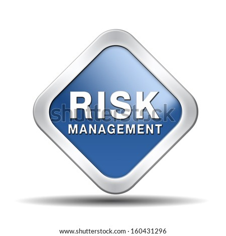 risk management and insurance policy safety first sign or icon - stock photo