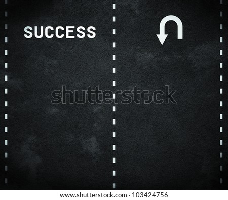 Road to Success - stock photo