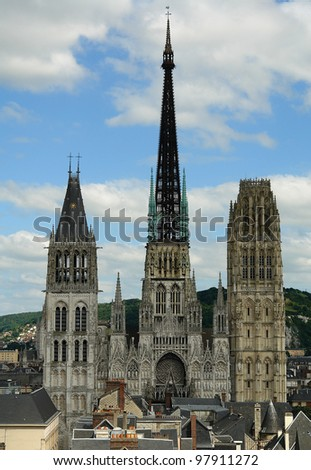 Rouen Notre-Dame Cathedral - stock photo