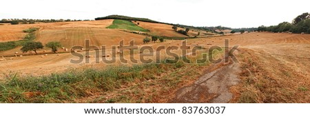 Rural panorama in Calabria, Italy - stock photo