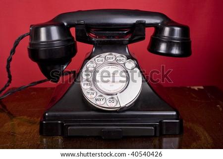 1940s bakelite telephone - stock photo