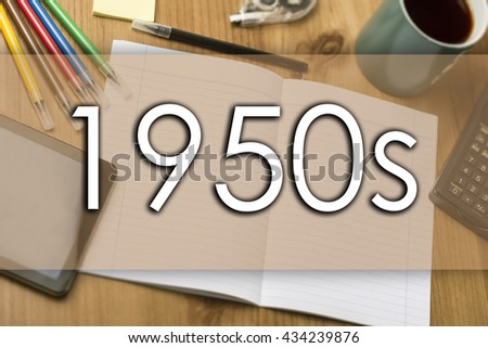 1950s - business concept with text - horizontal image