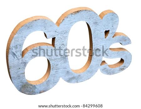 60's font - stock photo