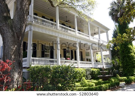 1800s Southern Home - stock photo