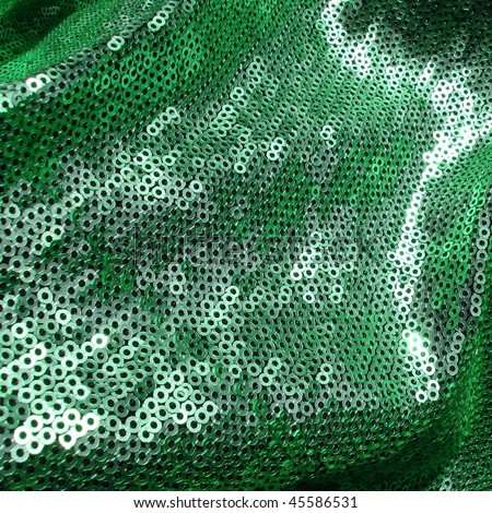 80s style green sequins. More of this motif & more sequins in my port. - stock photo