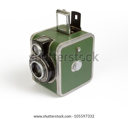1940s Vintage Camera - stock photo