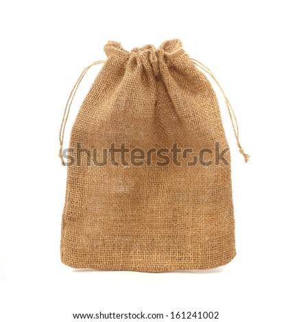 sack isolated on white background - stock photo