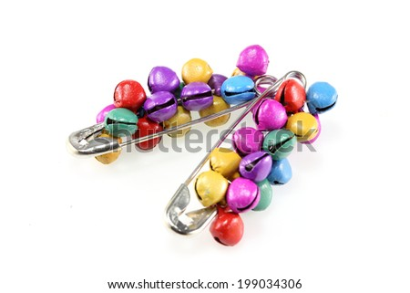 Safety Pins of  jewelry clasp - stock photo