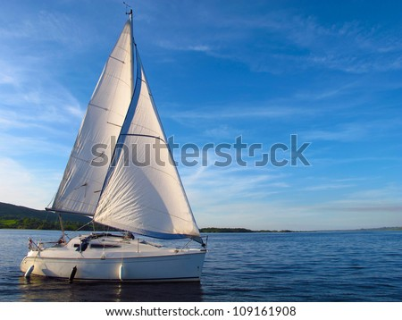Sail Boat on Lough Derg, Ireland
