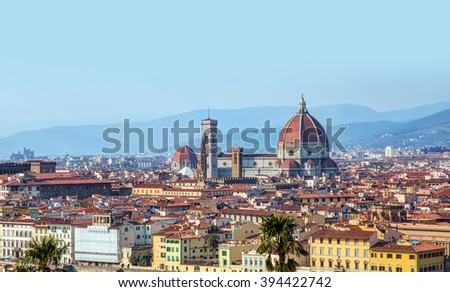Saint Mary of the Flower in Florence - stock photo