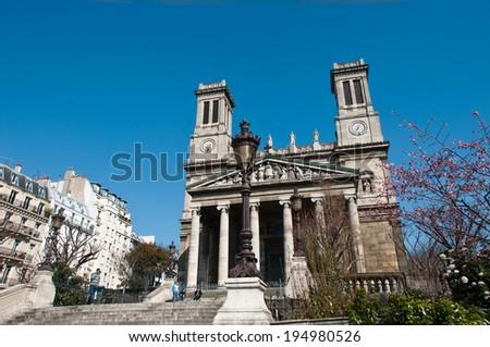 Saint-Vincent de Paul church n Paris  - stock photo