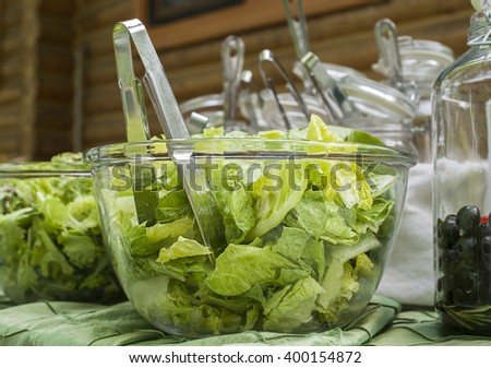 salad in a glass bowl