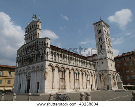 San Michele in Foro is a Roman Catholic basilica church in Lucca. It was built over the former Roman forum. It is dedicated to Archangel Michael