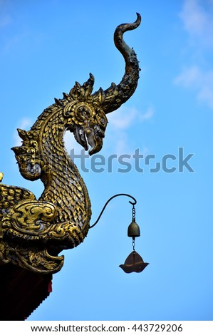 sanctuary in Chiang Rai, northern of Thailand - stock photo