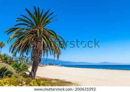 Santa Barbara beach, California, USA - stock photo