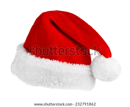 Santa Claus red hat  - stock photo