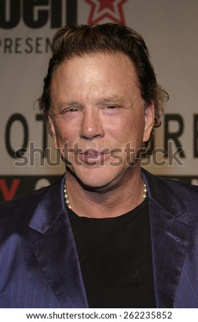 04/01/2005 - Santa Monica - Mickey Rourke at the Timothy Greenfield-Sanders XXX: 30 Porn-Star Portraits West Coast Exhibit opening at the Bergamot Station Santa Monica Museum of Art.