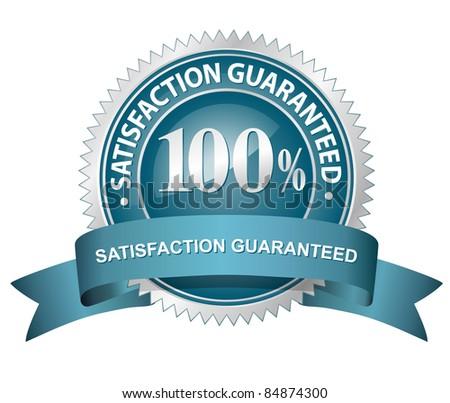 100% Satisfaction Guaranteed Sign - stock photo