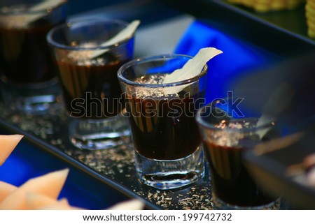 sauce in glass - stock photo