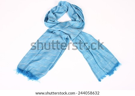 scarf on a white background - stock photo