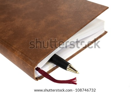 schedule closed with pen isolated - stock photo
