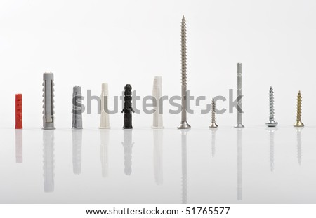 11 screws - stock photo
