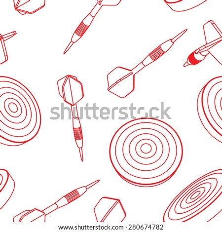 seamless of  dartboard and dart arrow  - stock photo